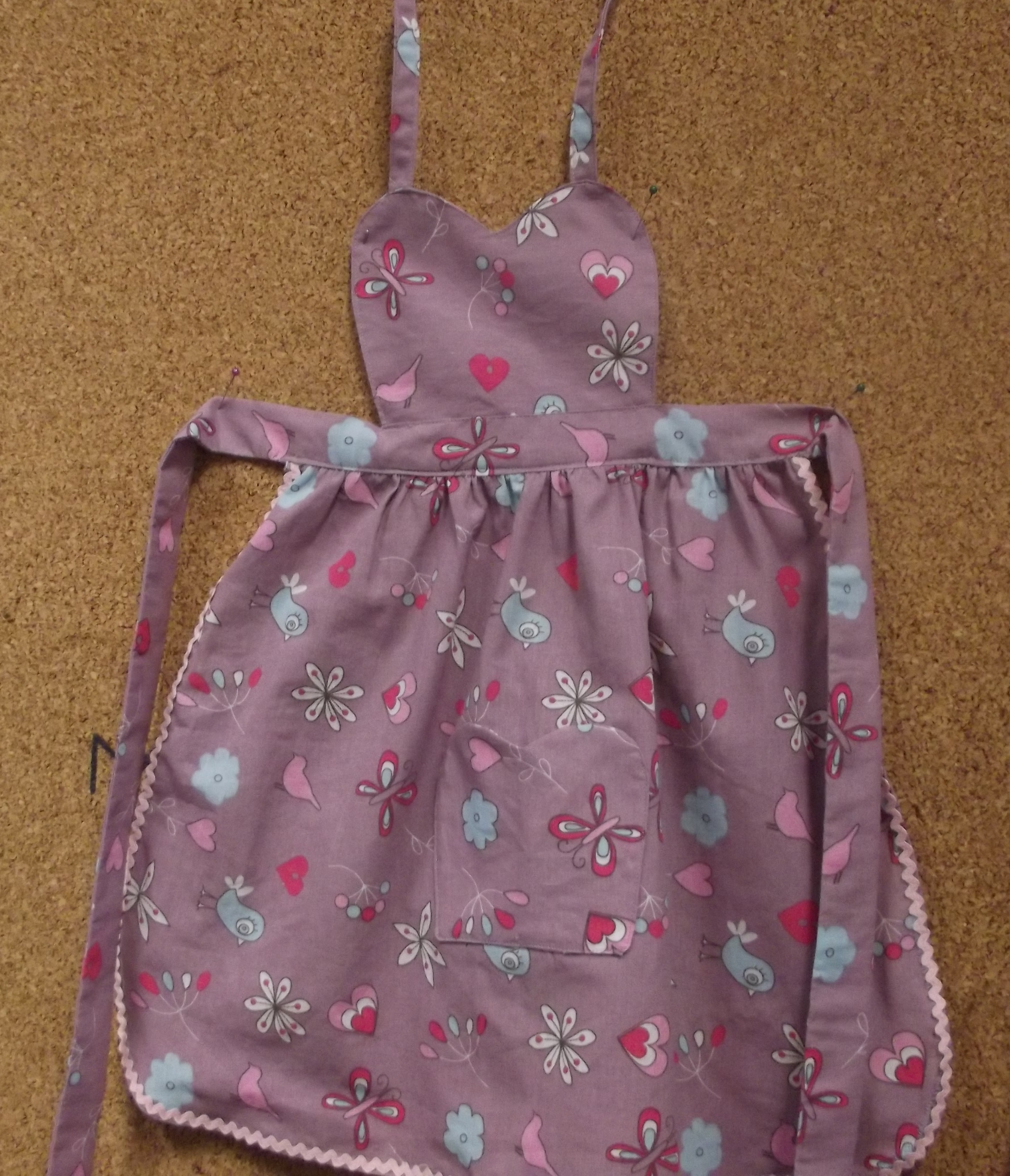 avental de menina